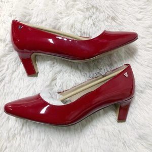 New Vionic Madison Mia Red Patent Leather Pumps